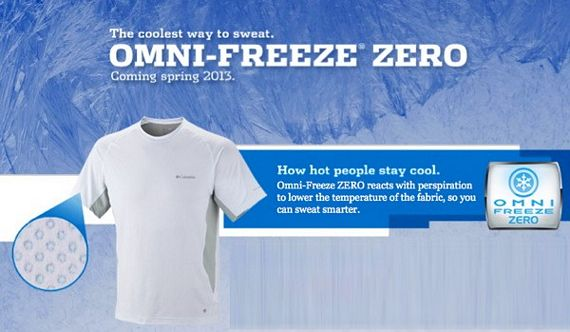Columbia Omni Freeze Zero Fabric Uses Sweat To Cool You Down