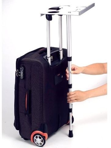 Turn Your Luggage Into A Portable Laptop Stand