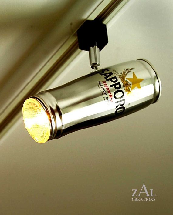Home bar lighting Shaped Coolthingscom Beer Can Track Lights Coolest Lighting For Home Bar Ever