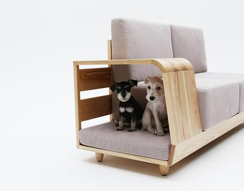 Under The Dog House Sofa S Armrest On Right End Though Sits A Functional E For Your Pet Complete With Bed Where They Can Get Their Rest After
