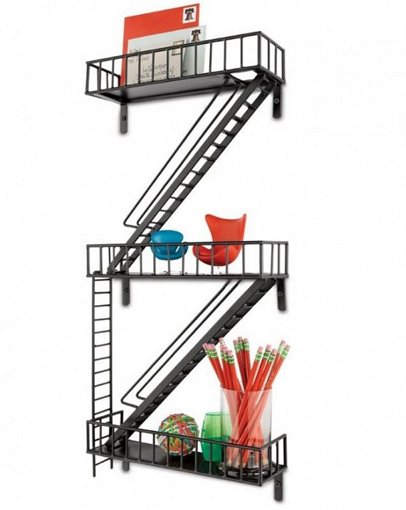 Urban Shelf Puts A Miniature Fire Escape On Your Wall