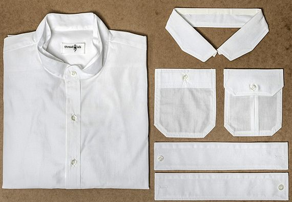 threadlab makes dress shirts with iron on pockets collars cuffs