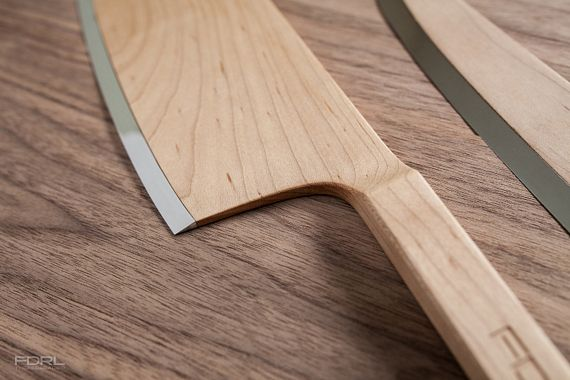 As The Name Implies Knives In Federal Maple Set Are Made From Wood Using A Single Piece Slab That Extends Handle To Knife Body