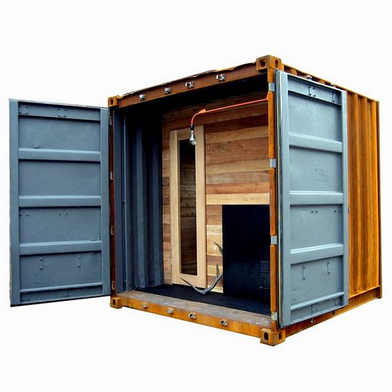 Sauna Box Is A Self Contained Steam Room In A Shipping