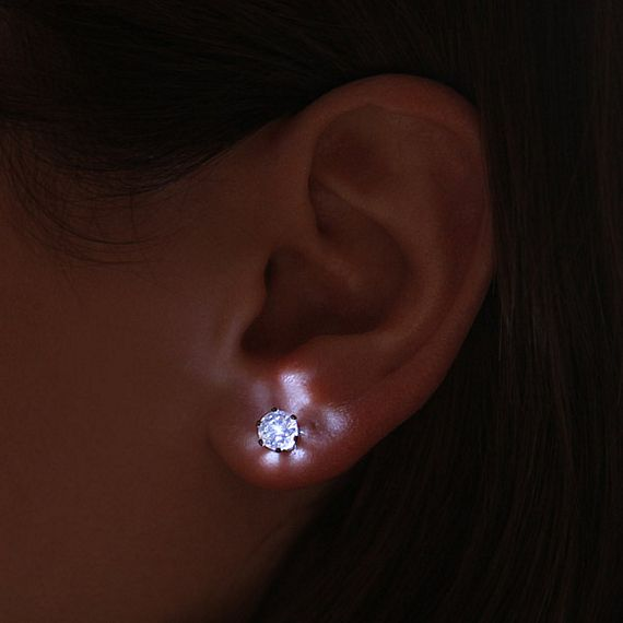 Diamonds May Be Forever But Their Sparkle Has Nothing On The Brightness Of These Illuminated Led Crystal Earrings Yep That Literally Bring Light