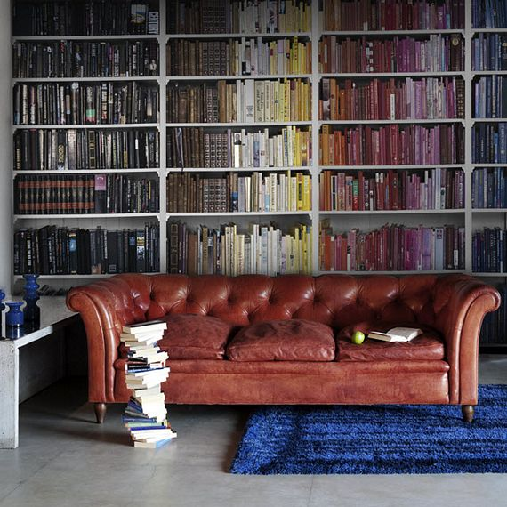 Old Study Room Design: Library Wallpaper Turns Your Living Room Into An Old