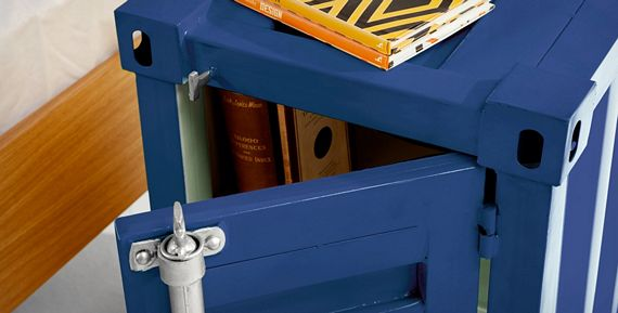 Industrial Swank Storage Furniture Looks Like Freight Containers