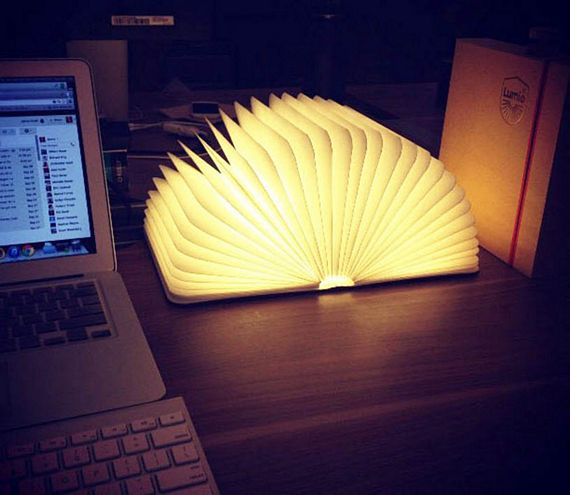 Lumio Lamp Folds Into A Book Opens Up Like A Glowing Accordion