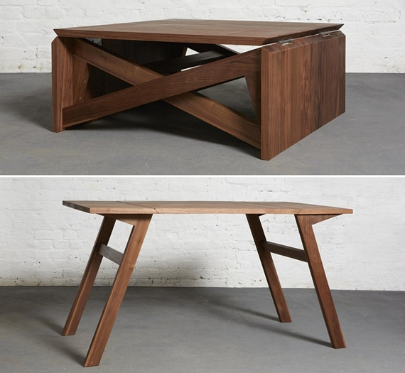 The Sweetest Furniture Designs We Ve Seen In A While One That S Simple Clever And Incredibly Functional Called Mk1 Transforming Coffee Table