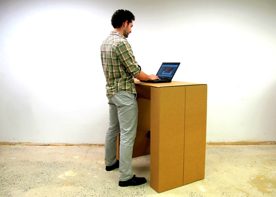 Chairigamiu0027s Cardboard Standing Desk Can Handle 300 Pounds, Costs Under $100
