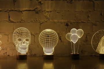 cool lighting. These Bulbing 2D Lamps Create The Illusion Of 3D Forms Cool Lighting I