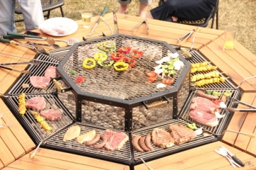 Grilling Part - Dining table with built in grill