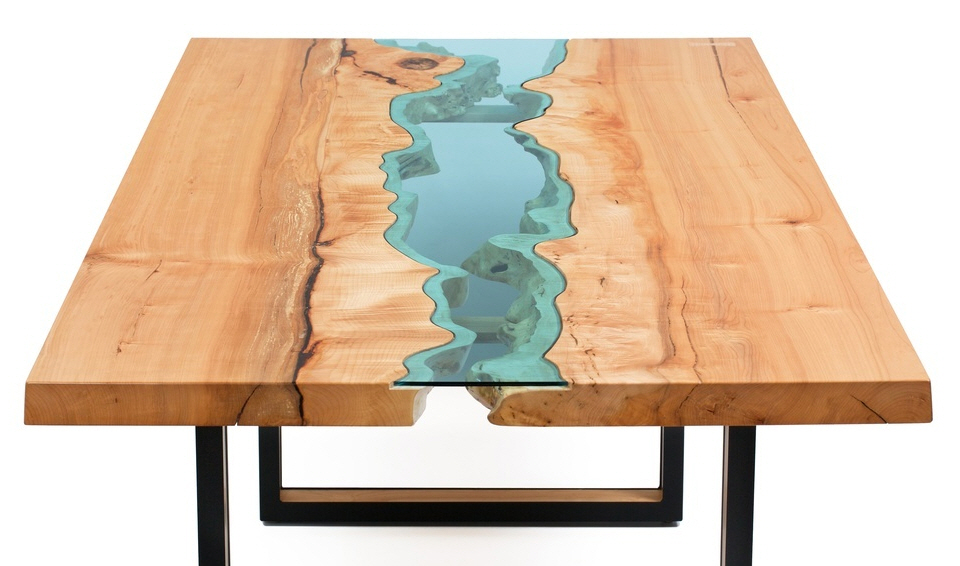 Greg Klassens River Collection Tables - Topographic coffee table