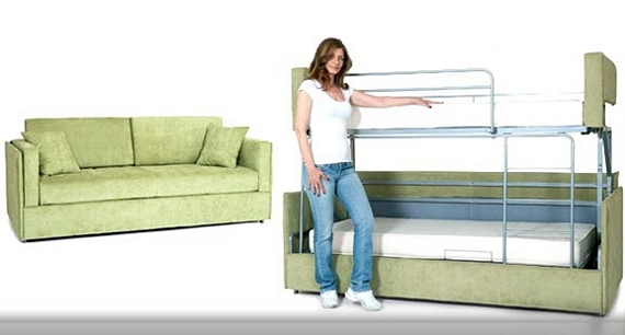 Remember The Doc E Saving System Resource Furniture S 6 800 Sofa That Can Impressively Transform Into A Fully Functional Bunk Bed