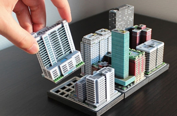 Build A Miniature City With 3d Printed Ittyblox Buildings