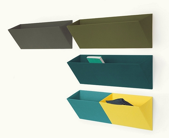 Sure ... & Leaning Wall Pocket Adds Colorful Storage Areas To Any Room