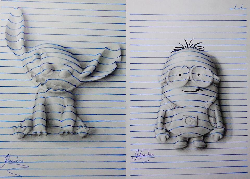joão carvalho s 3d notepad art