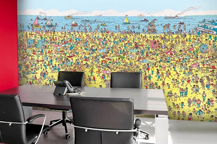 Where\'s Wally Beach Mural