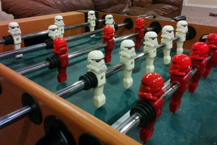 Foosball Stormtrooper Helmets - Custom foosball table