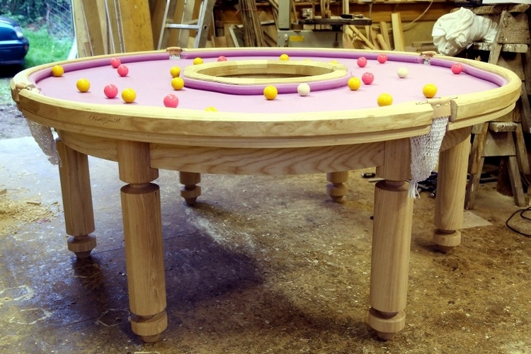 Pool Table Balls Scattered Donut Pool Table
