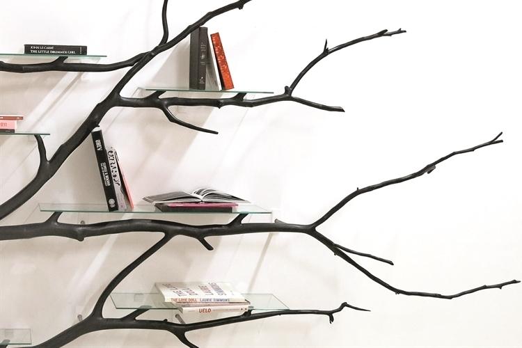 The Bilbao Tree Shelf Is Named After Street Where Artist Found Fallen Platano Oriental Wood That He Used As Bookshelf Frame Twisting